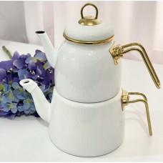 Emaye Çaydanlık Beyaz